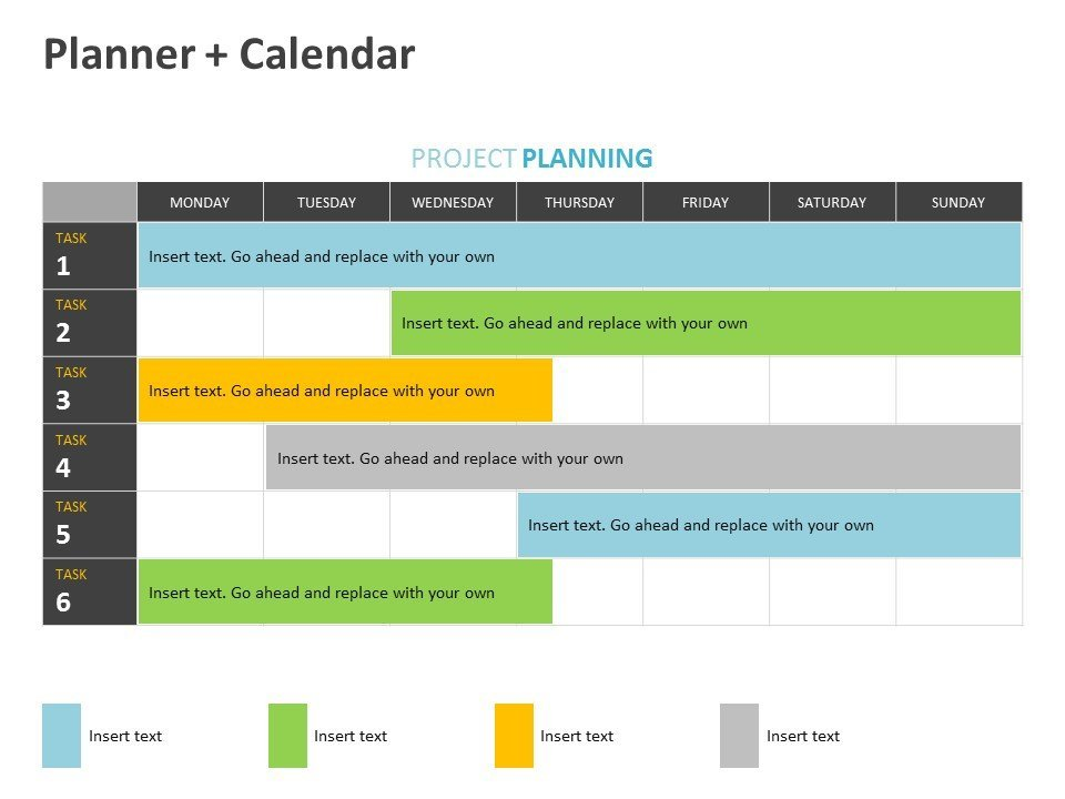 Project Planner PowerPoint Slide Editable