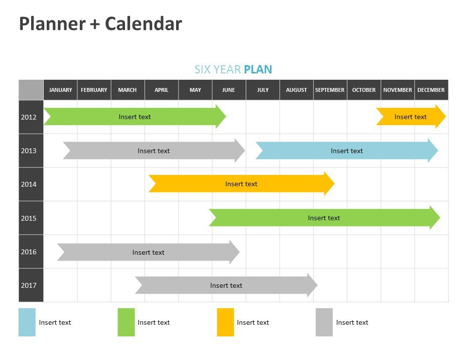 Six Year Plan PPT Editable Slide Template