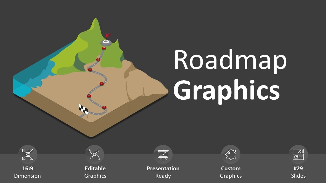Roadmap graphics powerpoint template