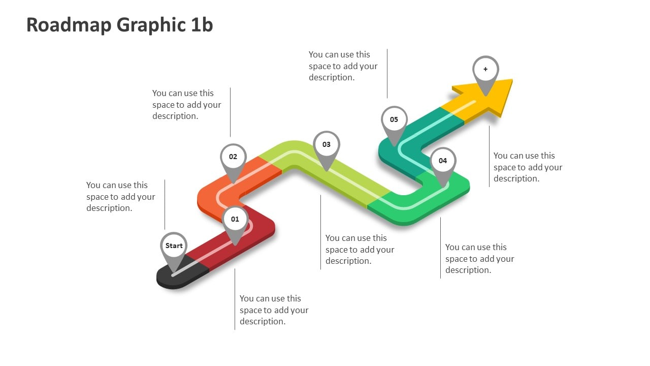 Roadmap editable powerpoint slide