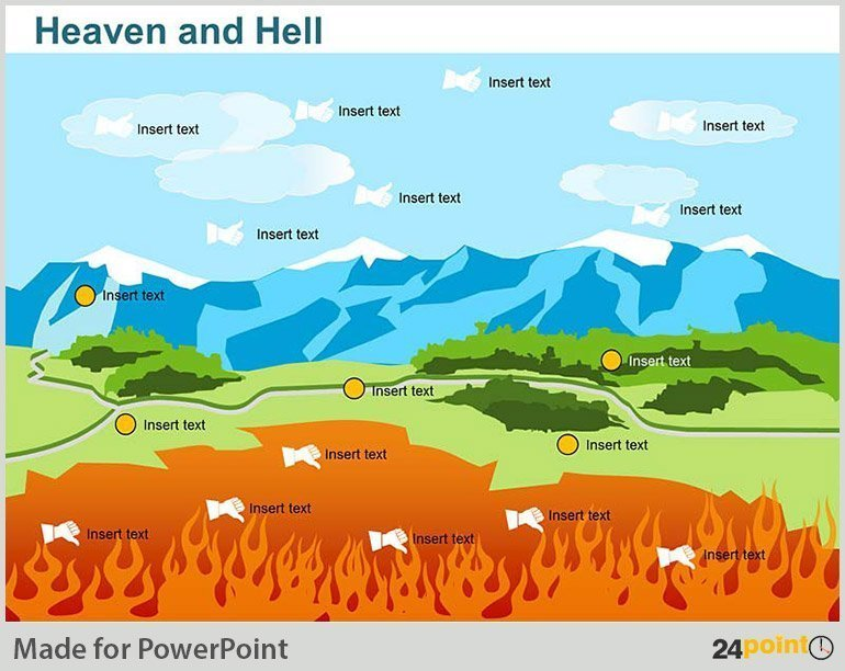 Heaven and Hell – PowerPoint Vector Image
