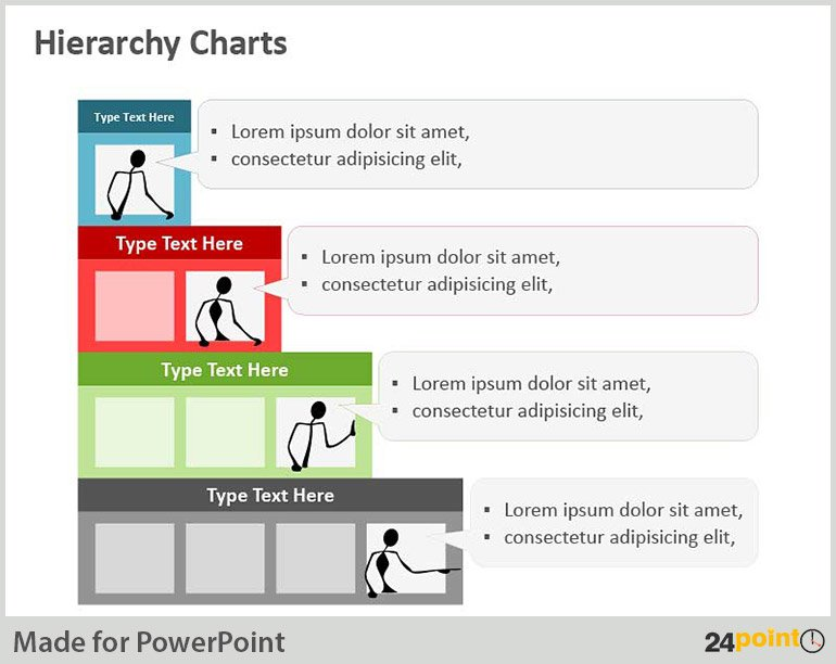 Hierarchical chart – PowerPoint Vector Image