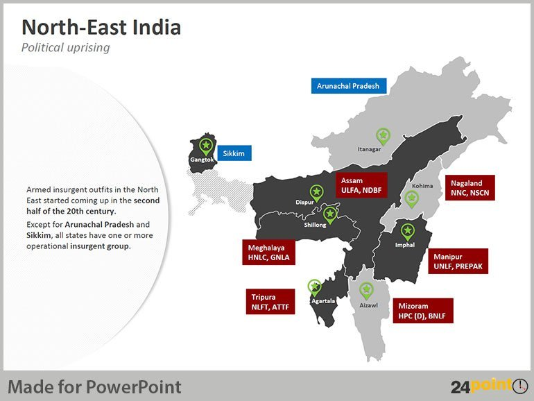 History of North East India - Political Uprising