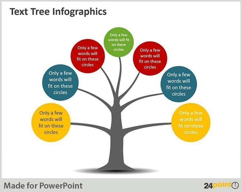 Text Tree Diagram – PowerPoint Illustration